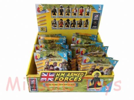 36 H.M ARMED FORCES - Series 3 CHARACTER BUILDING Figures - SEALED BOX - NEW